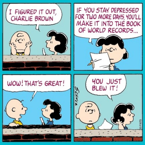 Charlie Brown just blew it!