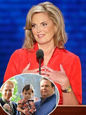 "peoplemag:  ""Thrilled Ann Romney says ModFam is her favorite show. We'll offer her the role of officiant at Mitch & Cam's wedding. As soon as it's legal.""  -Modern Family creator Steve Levitan, reacting to Ann Romney saying the hit show is her favorite, on Twitter."