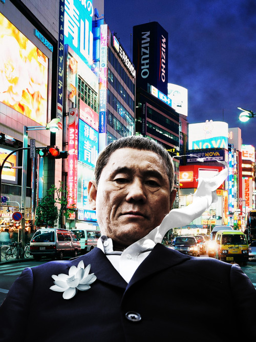 Beat Takeshi. Photo manipulation.