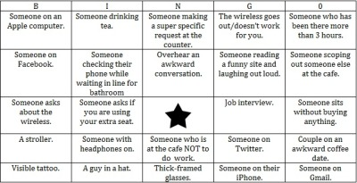 Coffee Shop Bingo. Play a round today!