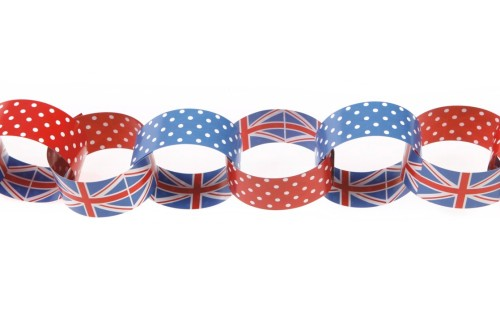 Our Union Jack paper chains
