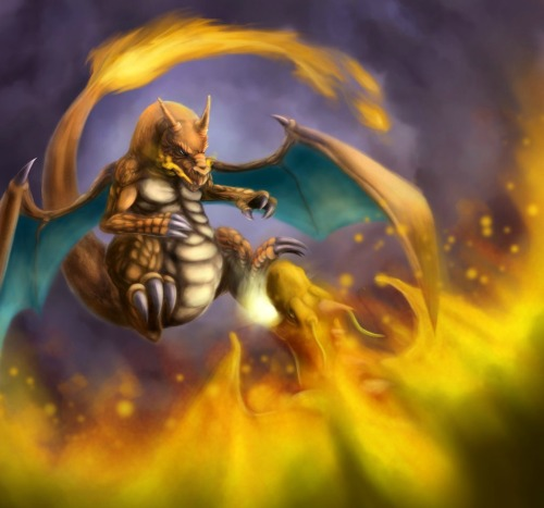 youngjusticer:  Who will be the victor of this match? Charizard vs Dragonite, by the-speed-demon.