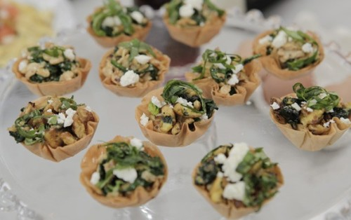Spinach Phyllo Brekki Cups…great for brunch!