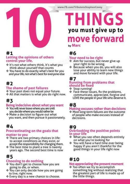 life-thebeautifulstruggle:  10 Things You MUST give up to move on…