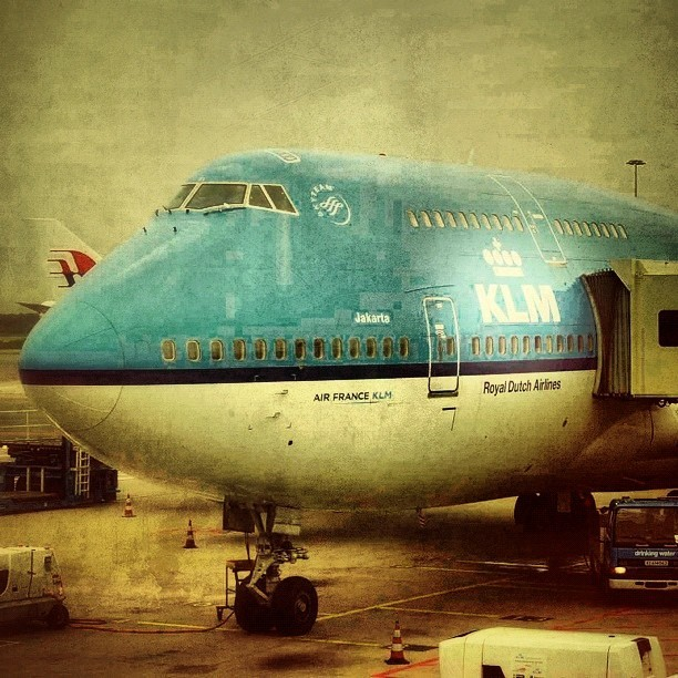 flor747:  From Amsterdam to Los Angeles. KLM one of the best airlines #airplane #klm #airline #skyteam #amsterdam #losangeles #boeing #747 (Tomada con Instagram)