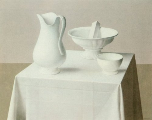 blastedheath:  Jan van Tongeren (Dutch, 1897-1991), Wit stilleven [White still life].
