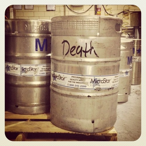Gonna play it safe & do this one last. #kegging (Taken with Instagram)