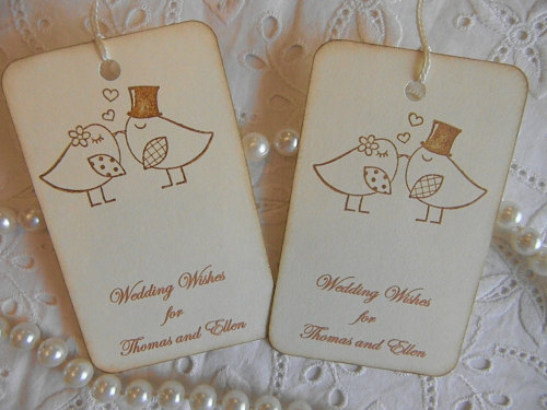 Vintage Wedding Wish Tree Tags