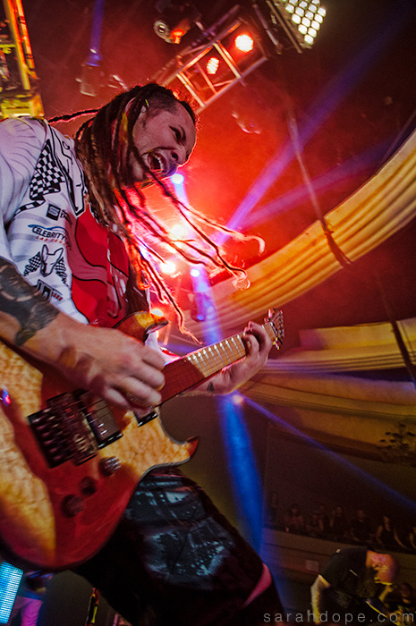 Zoltan Bathory of Five Finger Death Punch. Taken last night at the Hollywood Palladium.