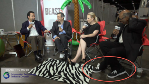 "newsweek:  Michael Steele wears hipster shoes.  I think those are actually called ""sneakers."""