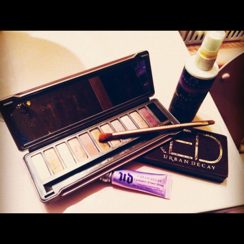 How I start my mornings. Seriously, what would I do without Urban Decay?  Necessities: Naked Palettes 1 & 2, Eyeshadow Primer Potion and All Nighter Long-Lasting Makeup Setting Spray.