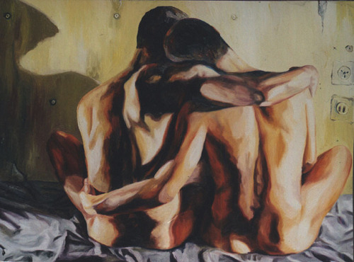 gay art homosexual couple painting  arte gay pintura pareja homosexual مثلي الجنس اللوحة الفنية زوجين مثلي الجنس гей искусства гомосексуальной паре картин   by naiveartist on Flickr.