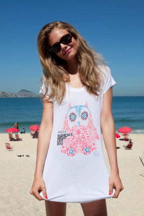 Cara Delevingne wearing Fashion Night Out's tee