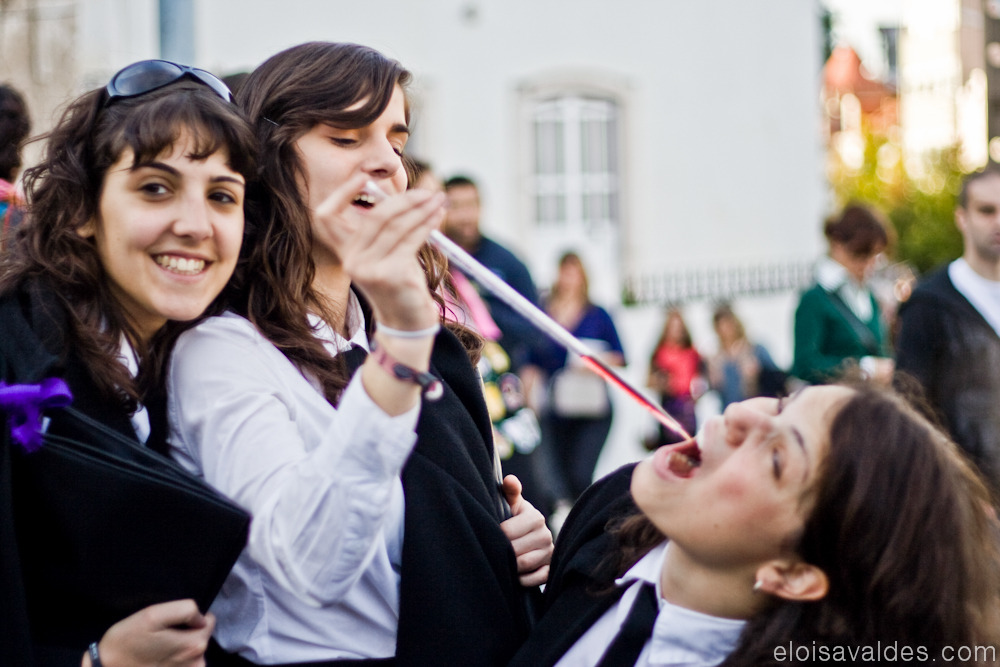 Latada 2010, Coimbra, Portugal. - Some girls from Pharmaceuticals. You can read more about this yearly student's event at: http://en.wikipedia.org/wiki/Latada#Recep.C3.A7.C3.A3o_ao_Caloir o