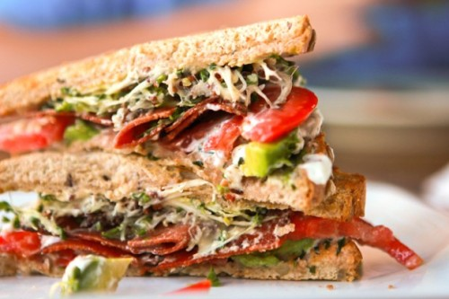 foodopia:  BLAT (BLT + avocado) with lemon and basil: recipe here