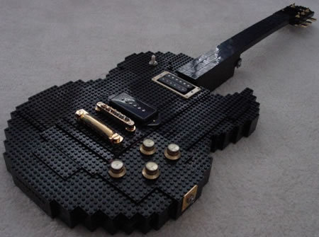 Mommy can I have a lego guitar for christmas?