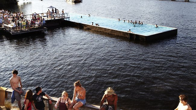 Reuse an old industrial barge to make a public swimming pool…only in Berlin!