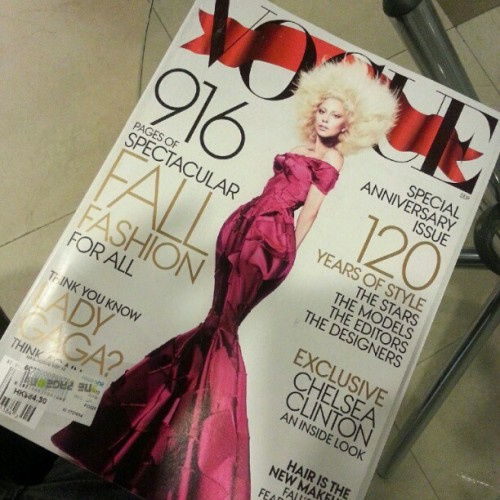The September Issue, 2012 Edition. (Taken with Instagram)