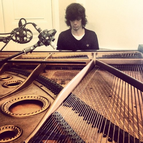 Jack sails playing the grand piano  (Taken with Instagram)