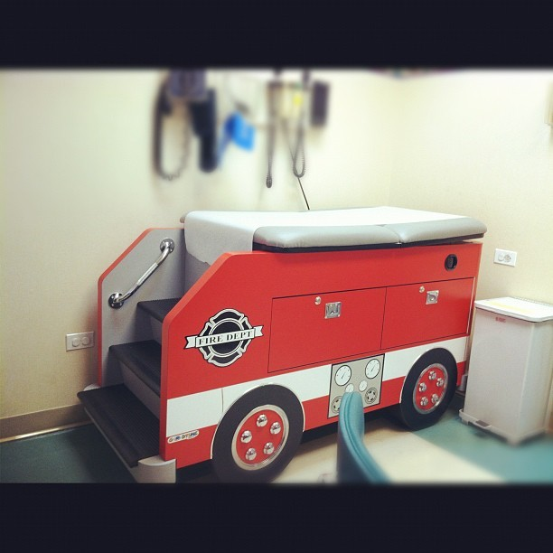 My last day at the pediatrician, they finally showed me the fire truck room. #toogrownup  (Taken with Instagram)
