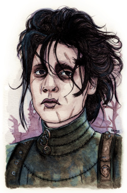 dollychops:  Edward Scissorhands  Edward Scissorhands by the amazing Helen Green!