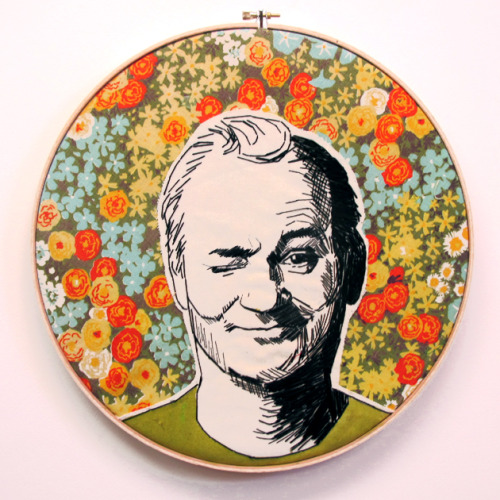 Embroidered Bill Murray(via 365 Lucky Days)