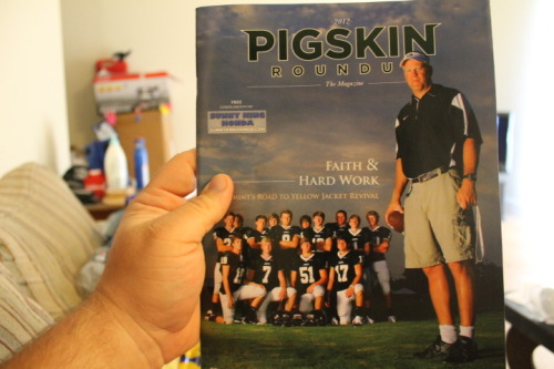 The 2012 Pigskin Roundup Magazine is now available!  Pick it up at KFC, Jack's, Young Oil Grub Mart.