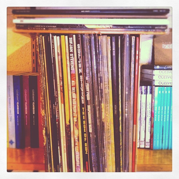 Life pours forth from the shelf of sound (Taken with Instagram)