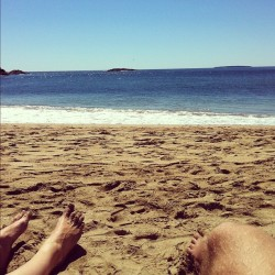 sandy beach, mount desert island. (Taken with Instagram)