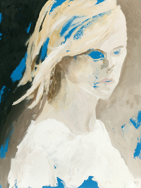 Ghost Blonde, 24 x 18 inches, acrylic on canvas, 2012.
