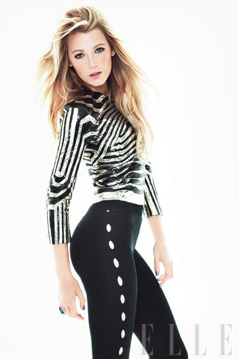 blackvivian:  Blake Lively for Elle Mag