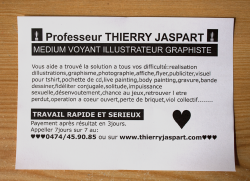 La carte de visite du pauvre. © Thierry Jaspart. All rights reserved. http://www.thierryjaspart.com