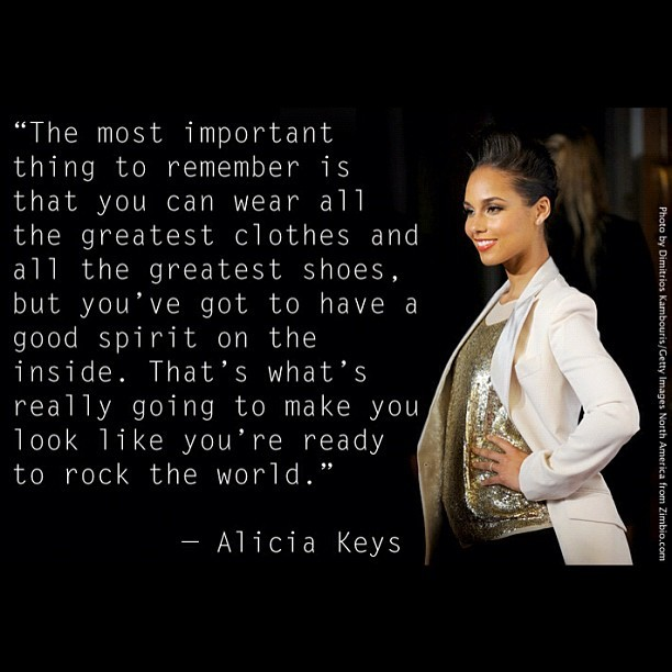 This is one of my favourite quotes!!! @aliciakeys ….beautiful