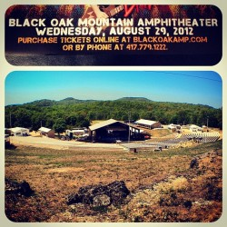Tonight's gig; #BlackOakMountainAmphitheater in #Lampe, #Missouri (Taken with Instagram at Black Oak Mountain Amphitheater)