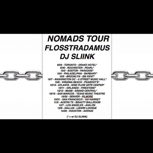 ☢☢☢ NOMADS TOUR 2012 w/ @DJSLIINK ☢☢☢ (Taken with Instagram)