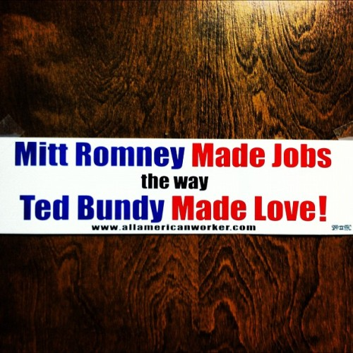 Lolz #Romney #jobs #1u #p2  (Taken with Instagram)