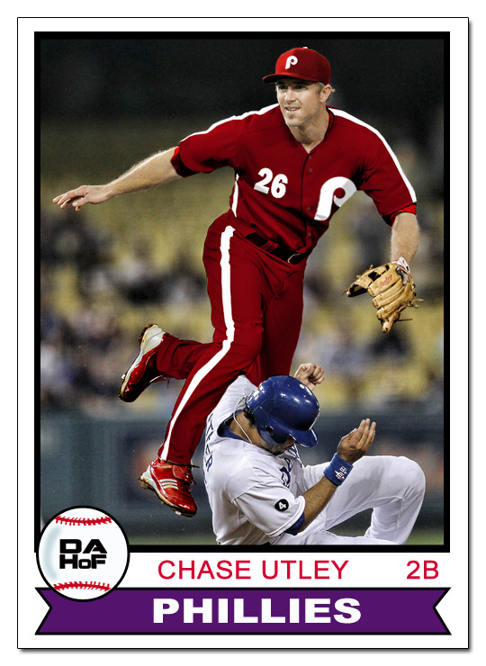 dahofcards:  1979 Topps all-burgundy Chase Utley