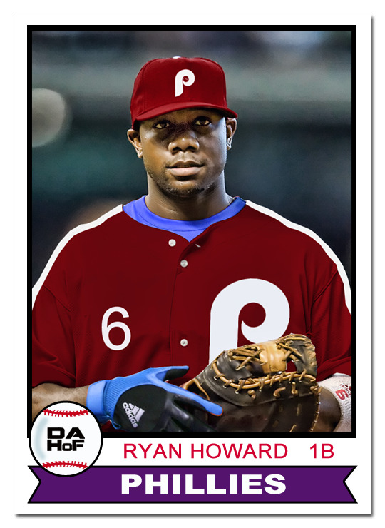 dahofcards:  1979 Topps all-burgundy Ryan Howard