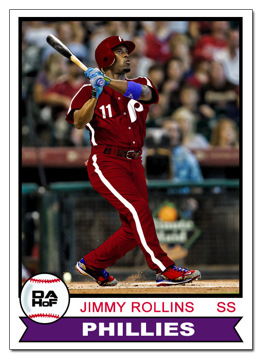 dahofcards:  1979 Topps all-burgundy Jimmy Rollins