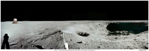 Apollo 11: East Crater Panorama (by NASA on The Commons)