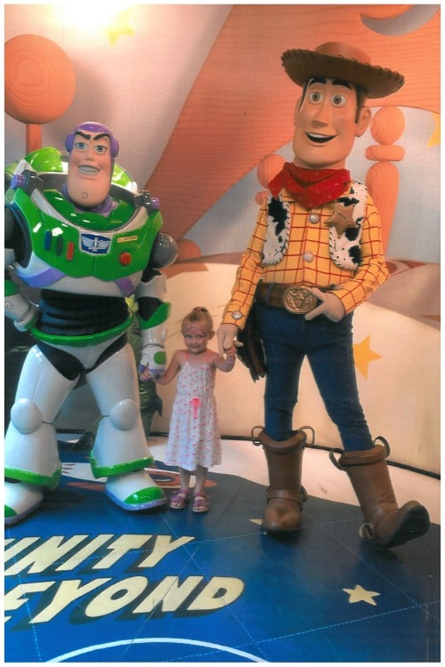 Here's Hailey with Buzz Lightyear and Woody at Disney's Hollywood Studios while out on her amazing wish! Isn't she just adorable?