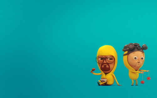 laughingsquid:  3D Renderings of Mike Mitchell's Original 2D Breaking Bad Illustrations