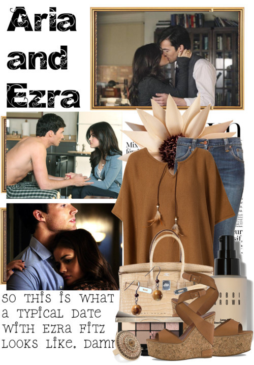 Aria and Ezra…Pretty Little Liars by queenrachietemplateaddict featuring high heels