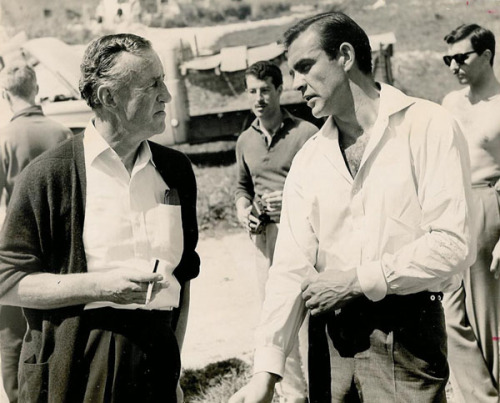 ovadiaandsons:  Ian Fleming & Sean Connery