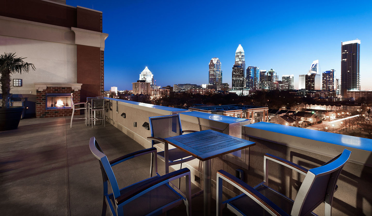 Charlotte, North Carolina skyline.
