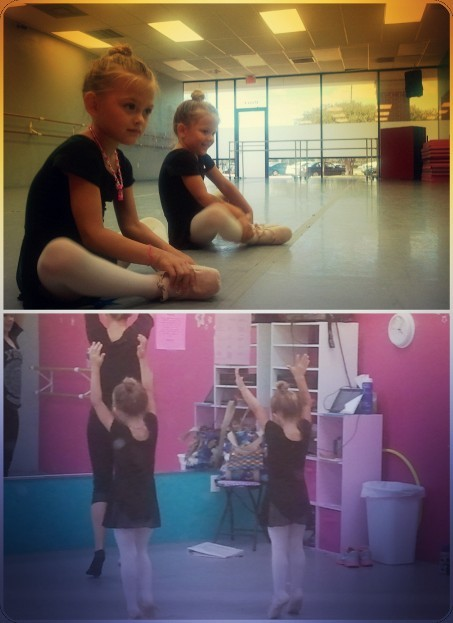 My little beauties at ballet!  (Taken with InstaCam)