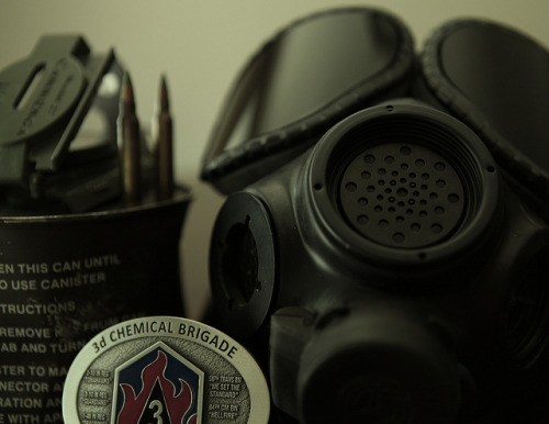 jegerflot:  3d Chemical Brigade Belt Buckle / Gas Mask & Canister by Stephen Ruppe on Flickr.