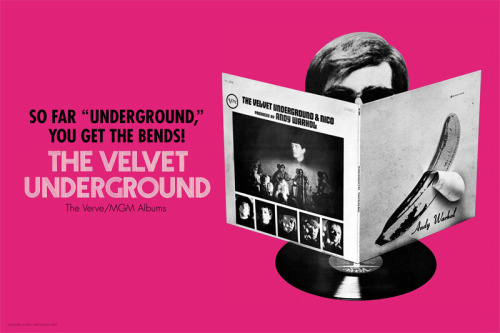 …a poster for the inside of Sundazed's forthcoming VU vinyl box set, based on a print advertisement contemporary to the 1st LP!