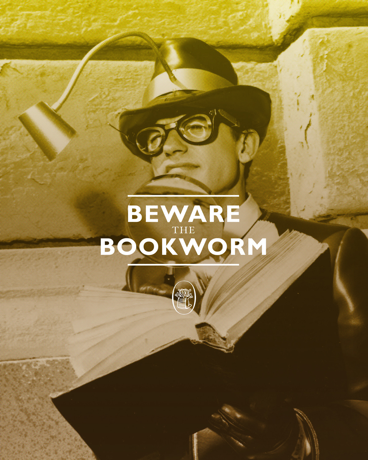 "The Bookworm.   The Batman 66 project is ""a series of design pieces celebrating 1966 Batman television series by Dylan Todd."" It is wonderful."