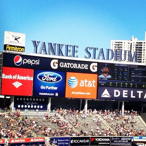 Beautiful afternoon at #yankee #stadium! Thanks @Patch! (Taken with Instagram at Yankee Stadium)